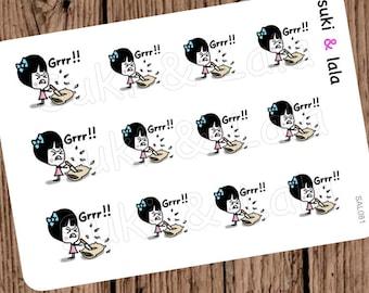 MAD Planner Stickers, Crazy Planner Stickers, Angry Planner Stickers, Pillow Planner stickers (SAL081)
