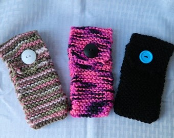 Hand Knitted Eyeglass Case