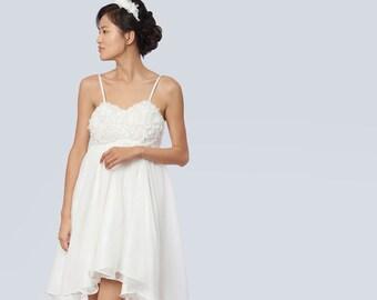 Dress wedding dress Pony Moon silk, chiffon silk wedding dress, married Bohemian chic silk, boho dress.