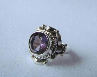 Amethyst Silver 950 Ring