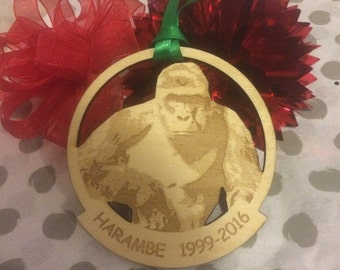 FREE SHIPPING *** Harambe The Heroic *** Christmas Holiday Ornament ***