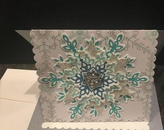 Beautiful Handmade Christmas Card - Sparkle, sparkle, sparkle!