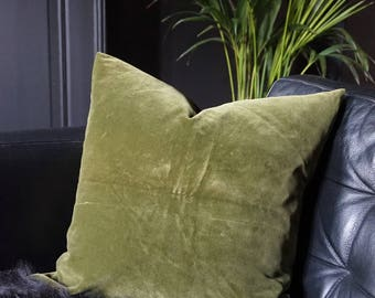 Dark Green Velvet Cushion