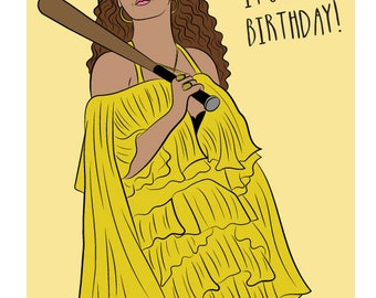 BEYONCE, HOLD UP, Birthday card, Beyonce birthday card, Beyonce card, Beyonce funny card, Beyonce lemonade, Beyonce formation, Beyhive, Bey