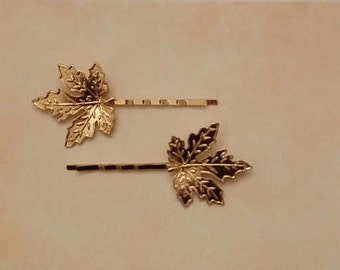 Forks with golden leaves