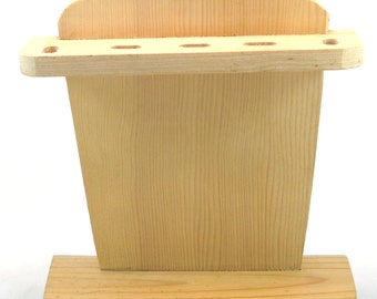 Unfinished Wood Toothbrush Holder for Crafting