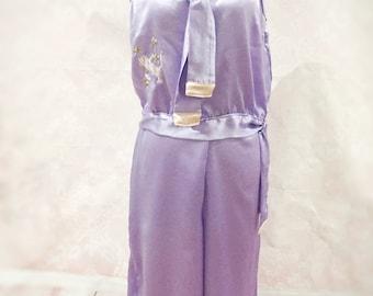 The Gloria- Art deco, 1920's, silk, pink, purple pyjamas, pinup, flapper, loungewear, sleepwear, womens, gift, Valentines, birthday, bridal