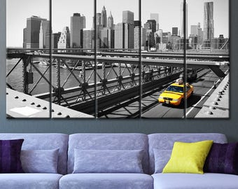 Canvas Wall Decor, New York Taxi, Poster New York City, Canvas Wall Art Part 75