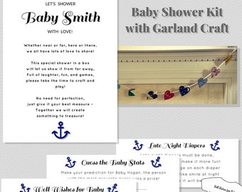 long distance baby shower kit with games banner and well wishes diy
