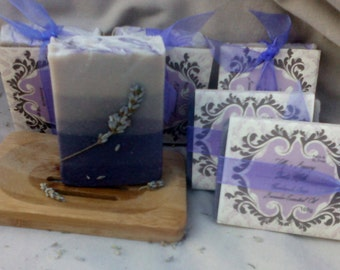 Goats Milk Lavender Essential Oil Soap.   Palm and SL Free