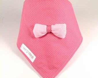 Bandana - pink pea bib and buckle