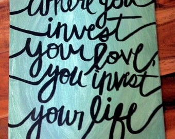 """Hand-Painted Sign 