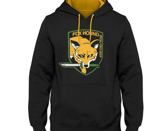 Foxhound 2 Tone Varsity Hoodie inspired by Metal Gear Solid
