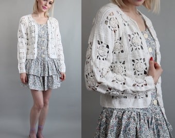 SALE - Vtg 90s Express Compagnie Internationale Cardigan sz S