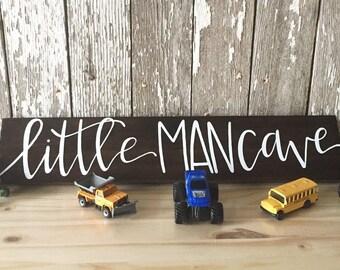 Little Man Cave Custom Wood Sign For a Little Boy Room