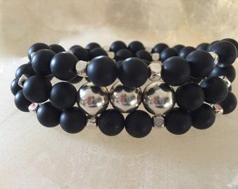 Midnight Infinity Wrap Bracelet