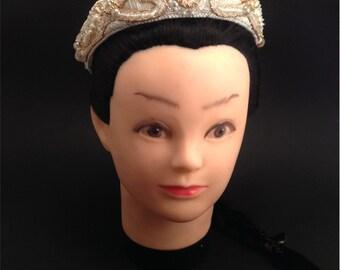 """Диадема расшитая бисером """"Гвинерва"""" / Beaded tiara """"Guinevere"""""""
