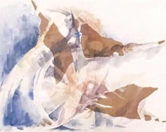 Watercolor Birds, Watercolor Painting, Original Watercolor, Abstract Watercolor, Watercolor Painting Animals, Blue Painting, watercolor art