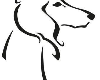 Saluki sticker | Saluki decal | Saluki vinyl | Car decal | Car sticker | Dog sticker | Dog decal | Laptop sticker | Window sticker | Saluki
