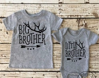 Sibling Onesie set, Big Brother, Little Brother,sibling photo set, newborn boy coming home outfit, brother shirt set