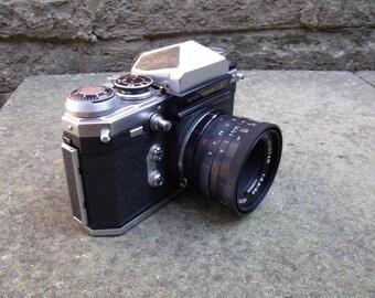 Vintage Wirgin Edixa Prismat LTL 35 mm SLR with Edixa 50mm F/2 Lens M42 fit