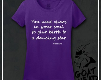 Nietzsche, Philosophy, Philosophy Tshirt, Keep Calm Shirts, Gift for Dancer, Ballet Shirt, Dance, Dance Shirt, Galaxy, Nebula, Tshirt, Shirt
