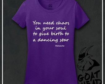 Nietzsche, Philosophy, Philosophy Tshirt, Keep Calm Shirts, Gift for Dancer, Ballet Shirt, Dance, Dance Shirt, Galaxy, Nebula, Tshirt, Shirt