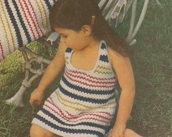 Vintage Girl's Halter Dress Crochet Pattern
