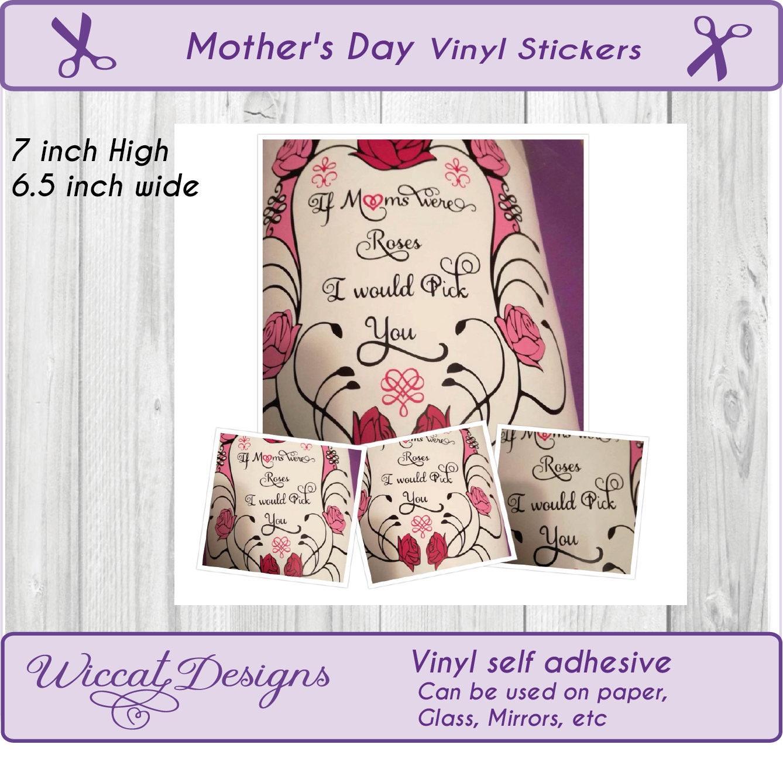 rozen sticker vinyl rozen frame sticker diy voor mama