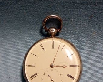 Antique John Molk Sterling Pocket Watch