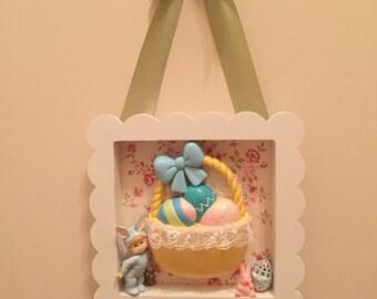 ON SALE! Easter Basket/Easter Kitsch Wall Hanging