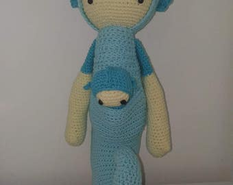 Sepp l'hippocampe - Amigurumi au crochet - Lalylala