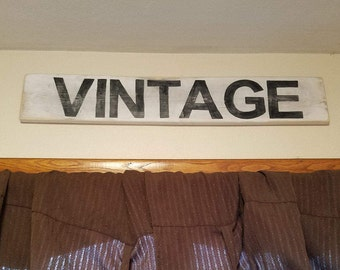 Vintage distressed wood sign - vintage sign - farmhouse style - country cottage - home decor - rustic decor - white wash - fixer upper style