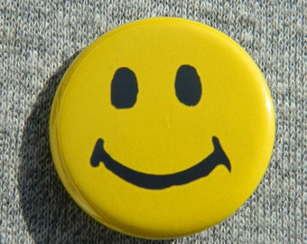 Smiley Face - Button - Magnet - Bottle Opener