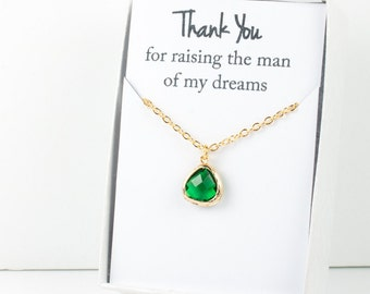 Emerald Gold Necklace, Bridesmaid Emerald Necklace, Green and Gold Necklace, Green Wedding Accessory, Bridesmaid Jewelry