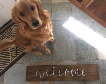 Welcome Sign - Wood Sign | Wedding Gift Gift | House Warming Gift | Home Decor | Hand Painted