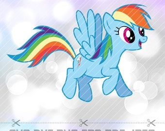My Little Pony Rainbow Dash Layered Vector Cut File SVG DXF Png Eps Vector Cricut Designs Silhouette Cameo Party Decorations Vinyl Tshirt