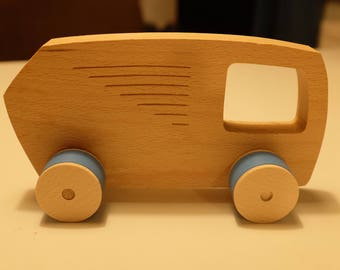 Wooden car toys - garbage car - 100% eco.