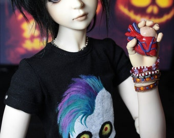 """BJD SD t-shirt """"Funny skull"""""""