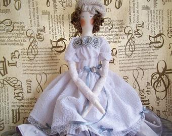 Handmade Tilda doll Frenchwoman