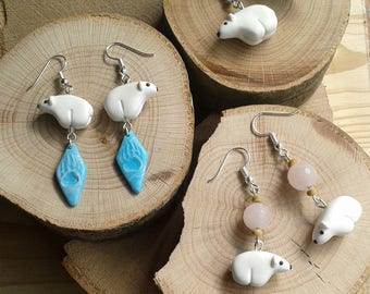 Polar bear Totem earrings