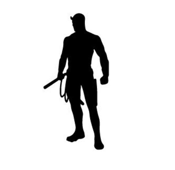 Vinyl Decal Sticker - Daredevil Silhouette Decal for Windows, Cars, Laptops, Macbook, Yeti, Coolers, Mugs etc
