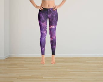 Purple Galaxy Tights, Galaxy Leggings, Graphic Tights, Graphic Leggings,Yoga Tights,Yoga Leggings,Yoga Pants, Hippie Pants, Space Tights