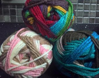 Multicolored Yarn Skeins