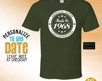 Made in 1968 Limited Edition, 49th birthday gifts for women, 49th birthday gift, 49th birthday tshirt, 49th Birthday for Men, Circle