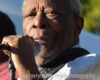 Original music photography fused on metal by the photographer -  B.B. King