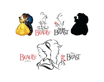 Beauty And The Beast Svg