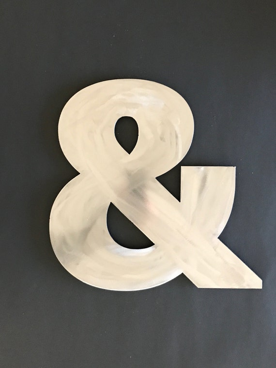 Items similar to ampersand sign metal ampersand for Ampersand decoration etsy