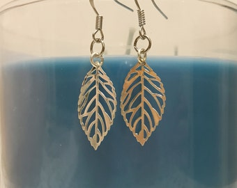 Silver Plated Leaf Earrings