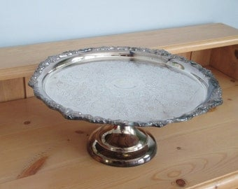 Silver Plated Pedestal Tray